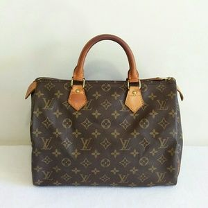 Louis Vuitton Malletier Monogram Speedy 30 Canvas